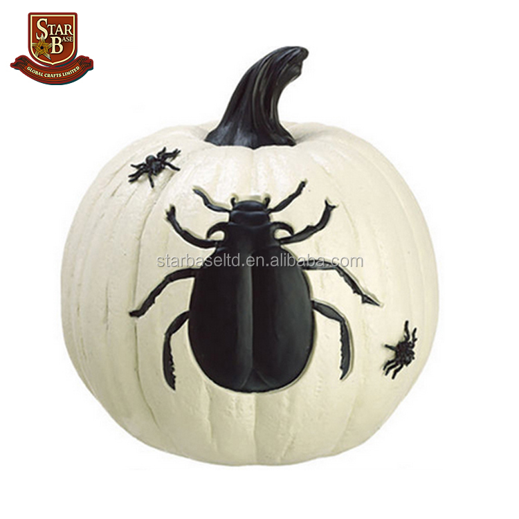 Factory custom made artificial pumpkins polyresin resin white foam craft pumpkins