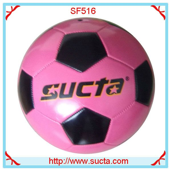 Pink 31 panel machine stitched soccer ball ST516PK