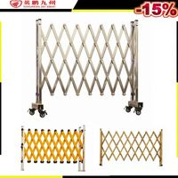 Movable Stainless Steel Expandable fence barrier with wheel