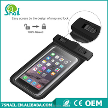 outdoor phone pvc oem waterproof pouch waterproof for iphone 6 plus accessories