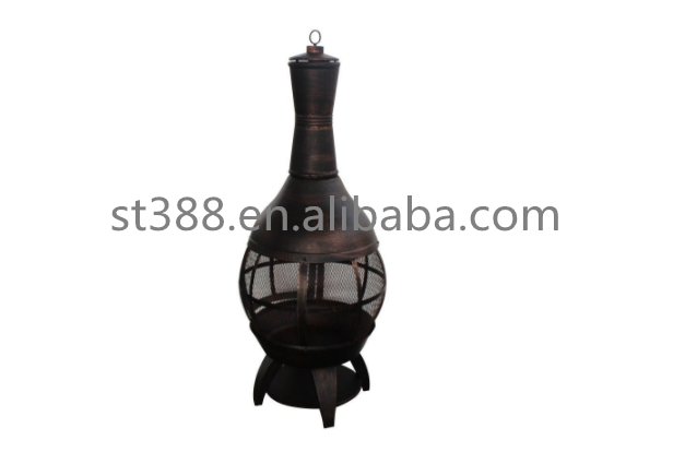 55.5 in. Outdoor Cast Iron Chimenea