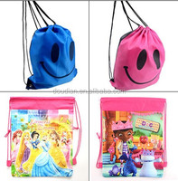 Kids Drawstring Backpacks Swimming Travel Bags Cartoon School Bag