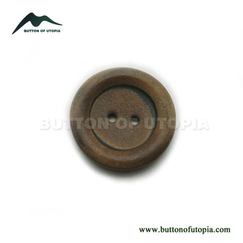 Real Horn Buttons for Formal Clothes Brown Buttons with Burnt Effect