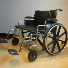Steel Frame extra wide Wheelchair Used For Disabled People