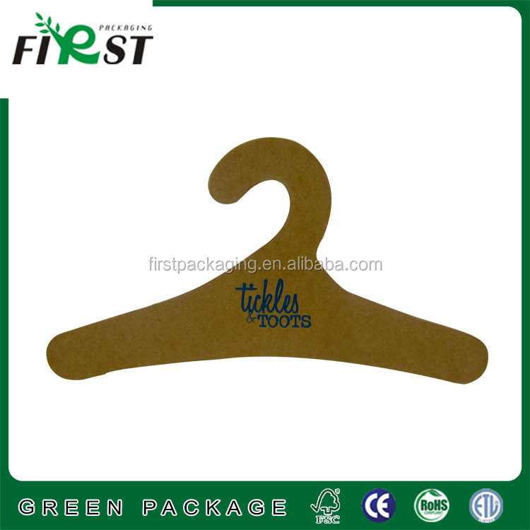 Printed recycled paper kids cardboard hanger,cardboard hanger for clothes