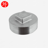 stainless steel casting pipe fittings male thread protection screwed square plug price