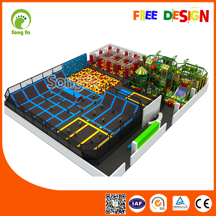 Commercial Indoor Trampoline Trampolines Australia Supplier With Children Playground,Ninja Warrior Obstacles