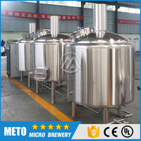 Hot sale stainless steel beer brewing equipment with mash tun & lauter tun,fermenteration tank