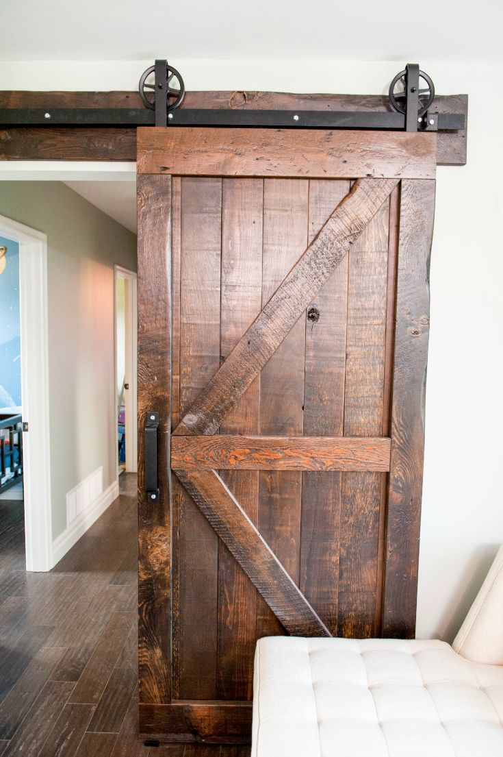 Antique Sliding Solid Wood Barn Door
