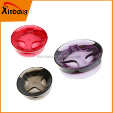 High quality best sell woman bathroom accessories color glass Coconut shell shape soap dish