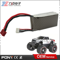 high rate customized size rechargeable 11.1v 1500mah rc car battery