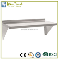 Wall mount shelf commercial stainless steel kitchen corner shelf