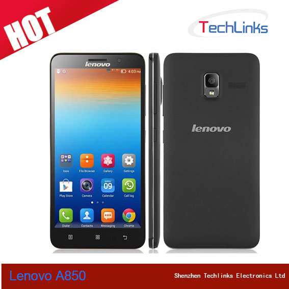 5.5 Inch Lenovo A850 MTK6582M Quad Core Dual SIM RAM 1GB ROM 4GB Android 4.2 Smart Phone