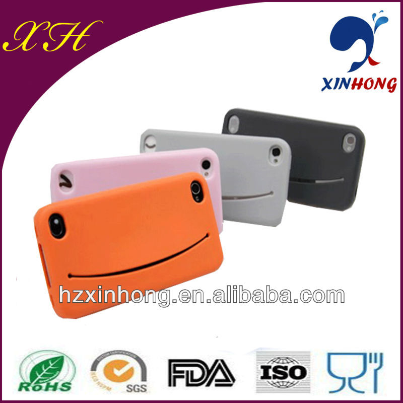 High quality mobile phone covers for ihone/ smile shape decorate back cover for mobile phones cover machine