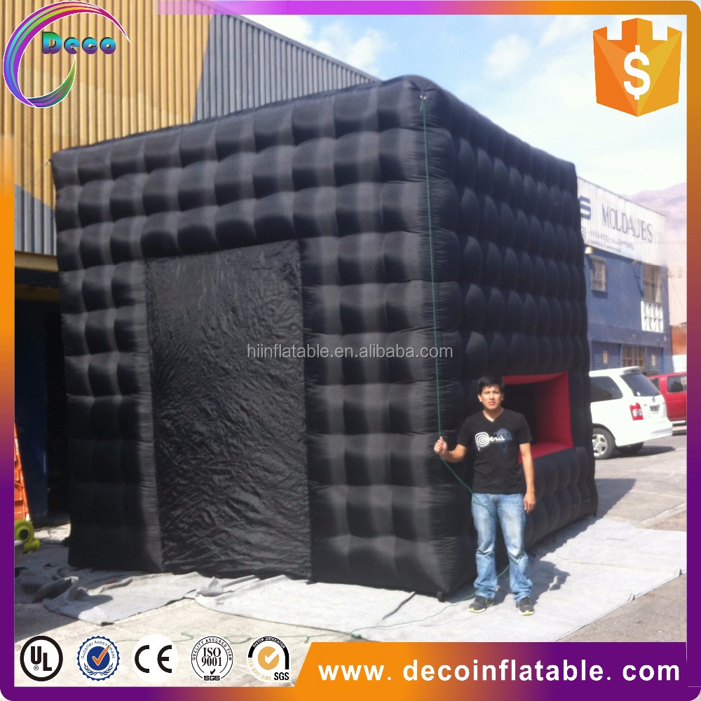 sale well high quality customized large outdoor inflatable black tube with window for advertising