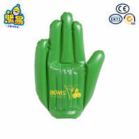 Customized design PVC inflatable cheering hand for promotion