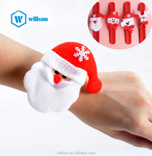 Christmas Patting Circle Bracelet Watch Xmas kids Girl Gift Santa Claus Snowman Deer New Year Party Toy Wrist Decoration