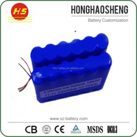 Rechargeable 18650 nicd 3.6v rechargeable battery pack 10.8ah