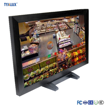 Large size vertical touch screen lcd monitor wall mount media player