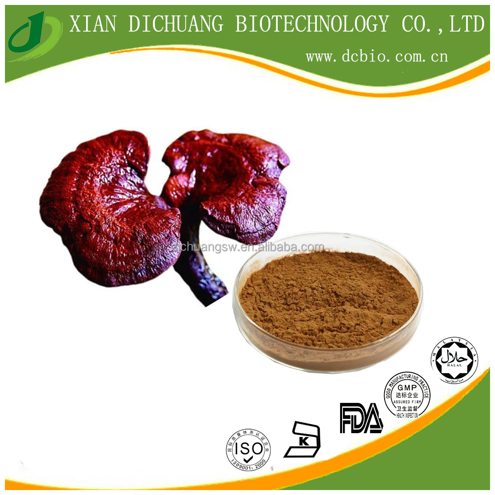 high quality Red Reishi Mushroom Extract Polysaccharides 30%- 50% /1%-6% Triterpenoid- Ganoderma lucidum Extract