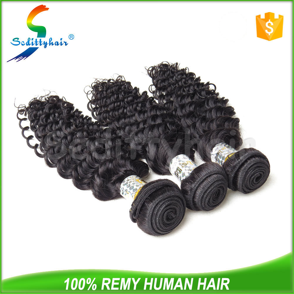 Manufacturer supply Deep Wave 100% virgin brazilian pussy with hair