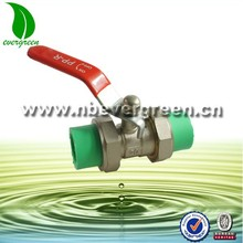 Red Plastic Coated Lever 25mm to 25mm Equal PPR Brass Ball Valve