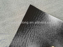 Polishing Embossed PU Synthetic shoe leather for lady shoes