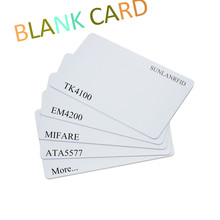 Free sample plastic blank / CMYK printing pvc/pet hotel key card active 125khz rfid card with TK4100 EM4100 chip