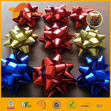 Wrapping Bows And Ribbon For Party Decoration,High Grade Customized PP Metallic/hologram Ribbon Star/x-mas tree Bow Wholesales