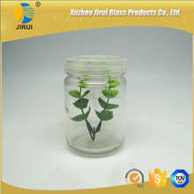 250ml tissue culture glass jar with plastic cap/ lids for plant