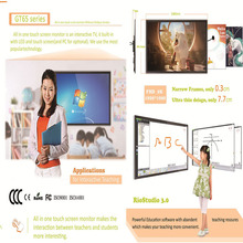Big size infrared 70 inch led all in one touch screen interactive board multi-touch lcd tv china factory suppliers oem s