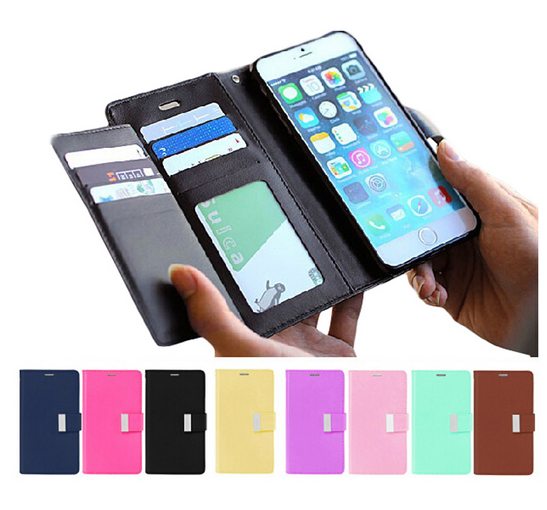 Hot Wholesale Flip Wallet Card Holder Leather Case Cover for iphone X 8 7 6 6S Plus Cell Phone Case