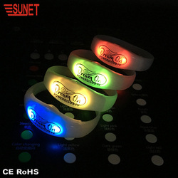 Big Concert Cheering Decoration Supply Led Bracelet Control Dmx With RGB lights