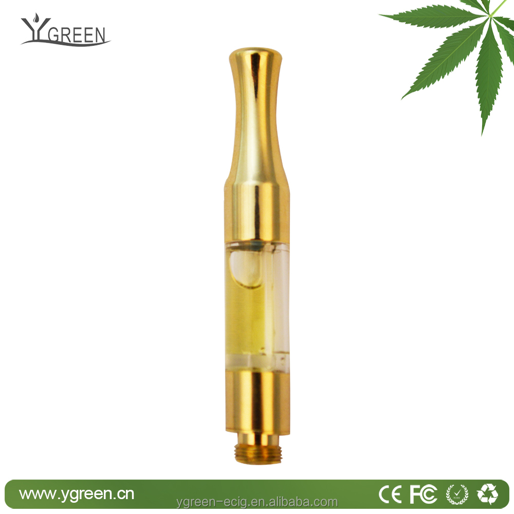 New product glass vape tank empty cartridge 510 pure golden oil vape pen cbd oil atomizer