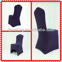 Special Color Professional Wedding Supplier Elastic Spandex Chair Cover in Eggplant Color