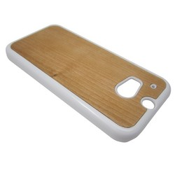 nice PC bottom cherry wood protective case for HTC M8