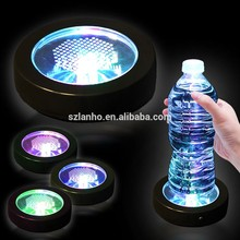 Light Up Led Flashing Drink Coaster led Color Changing Light Up Bottle Drink Cup Mat for Bar Club Party fancy