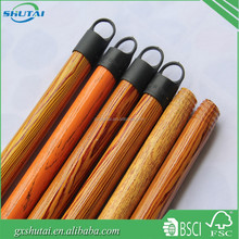 Eco-friendly eucalyptus wooden broom handle/stick with small and short cap/hanger