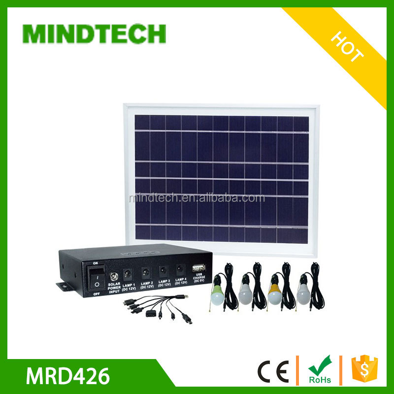 Portable design solar panel solar home lighting System with mobile charger