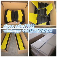 rubber heavy duty 3 channel cable protector ramps for motorcycle