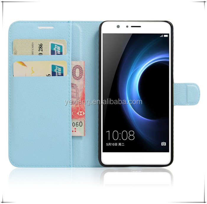Alibaba Hot Selling Horizontal Flip Leather Case for Huawei Honor 8 with Magnetic Buckle