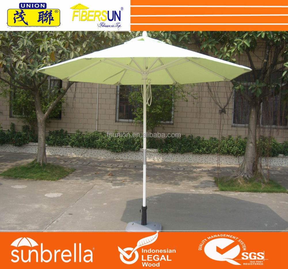 Regular white color center pole outdoor umbrella frame