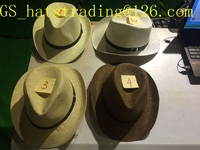 2016 cheap wholesale men's cowboy straw summer fedora hat