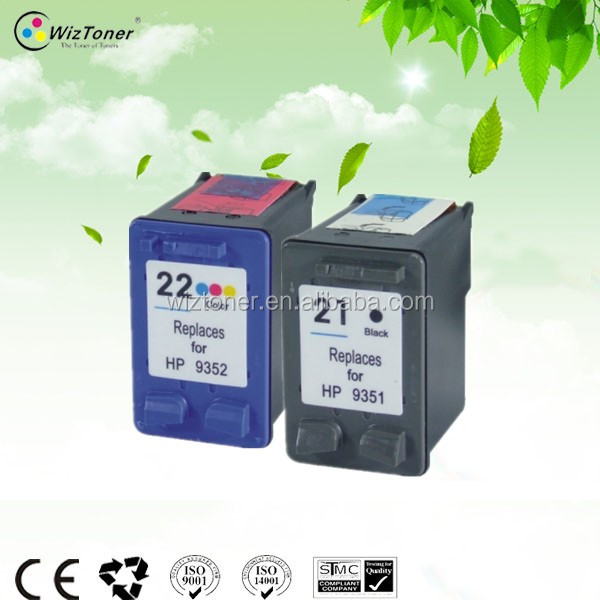 Printers compatible ink cartridge for hp 21 22