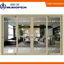Australian standard security screen Aluminium sliding tempered glass door