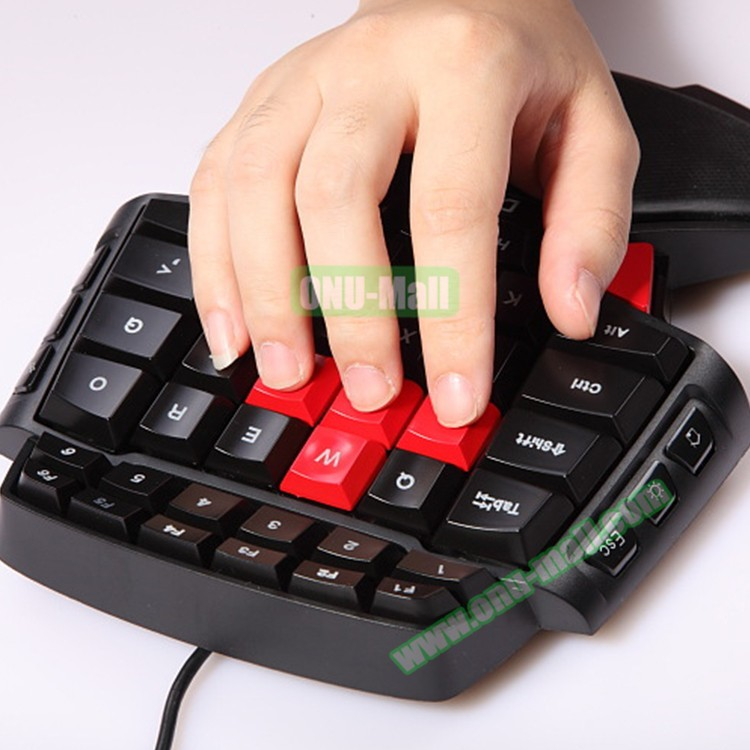 Online Shopping DELUX T9 Mechanical Single Hand Wired Ergonomical Keyboard Gamer for Computer