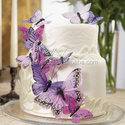 Beautiful Butterfly Cake Topper Decor Sets wedding birthday party decorations