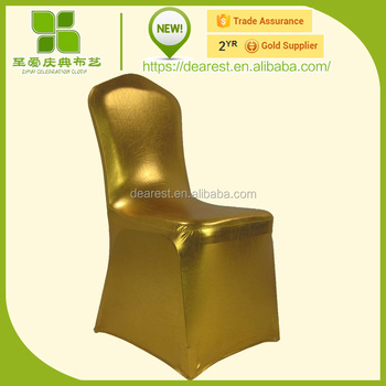 metallic coating chair cover black,glitter spandex chair cover