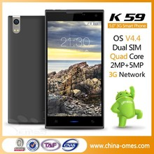 Wholesale China Brand OMES Mobile K59 5 inch HD IPS Display Quad Core android 5.0 lolipop cell phone