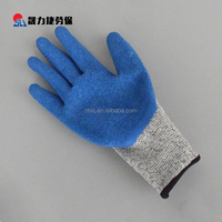 Inexpensive latex coated light protection gloves